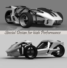 オリジナル3輪リバーストライクウォンイットレーシングモデル